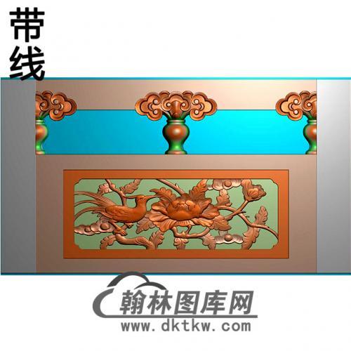 花鸟石材栏板精雕图浮雕图雕刻图HL-49有线