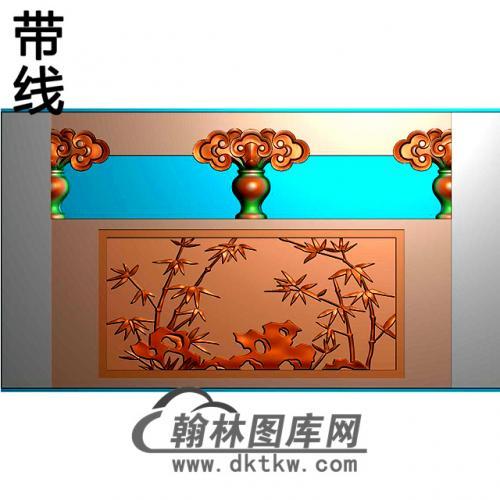 竹子石材栏板精雕图浮雕图雕刻图HL-55有线