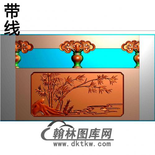 竹子石材栏板精雕图浮雕图雕刻图HL-59有线