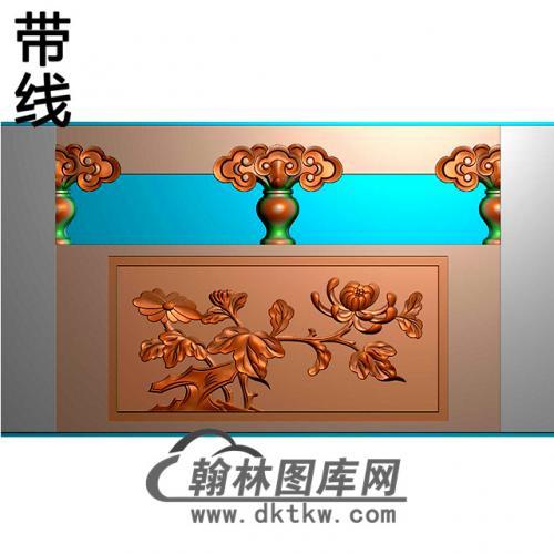 菊花石材栏板精雕图浮雕图雕刻图HL-62有线