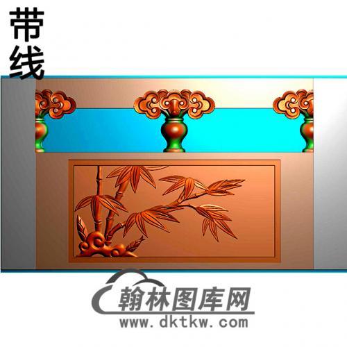 竹子石材栏板精雕图浮雕图雕刻图HL-63有线