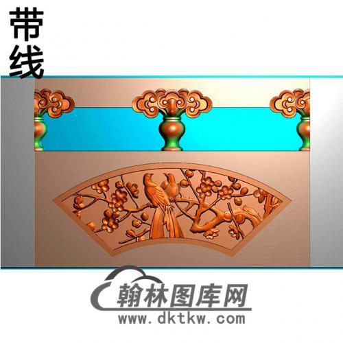 梅鸟石材栏板精雕图浮雕图雕刻图HL-64有线