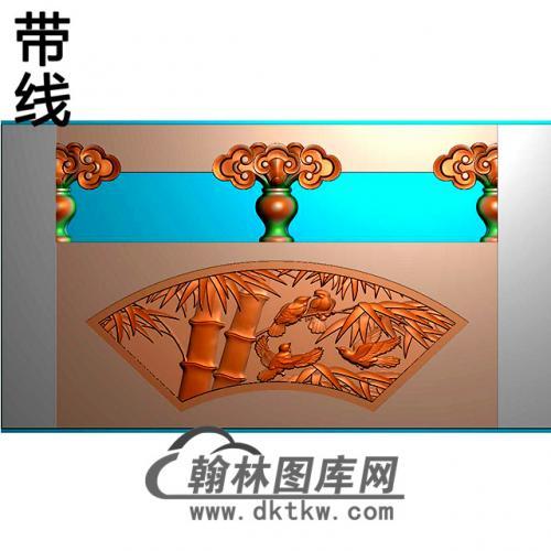 竹鸟石材栏板精雕图浮雕图雕刻图HL-67有线