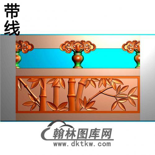 竹子石材栏板精雕图浮雕图雕刻图HL-74有线
