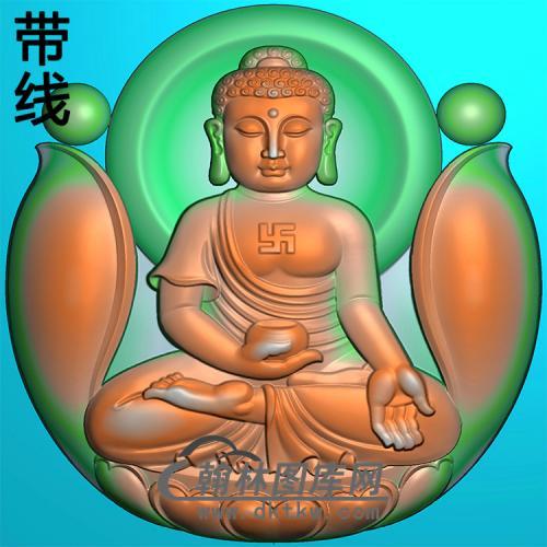 宝瓶坐莲坐姿佛像精雕图(ZFX-393)