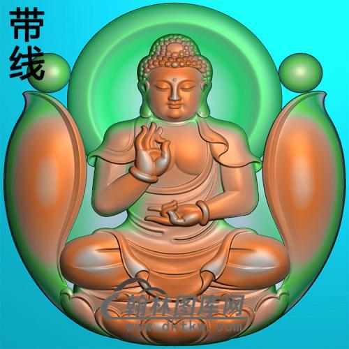 坐姿佛像精雕图(ZFX-394)