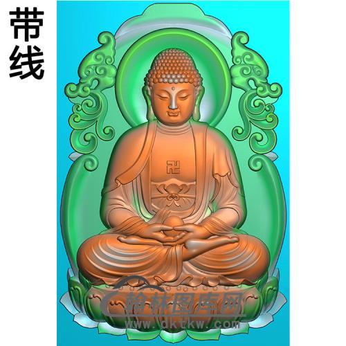 草龙坐莲坐姿佛像精雕图(ZFX-397)