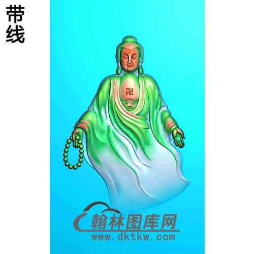 佛珠站姿佛像精雕图(ZFX-016)