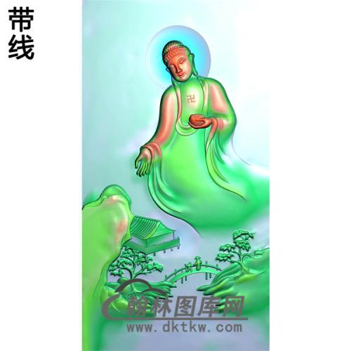 山水半身佛像站姿佛像精雕图(ZFX-025)