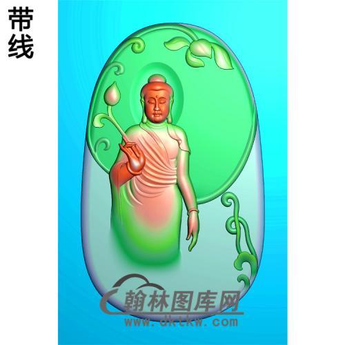半身佛站姿佛像精雕图(ZFX-032)