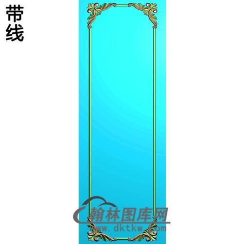 洋花护墙板精雕图(HQB-049)