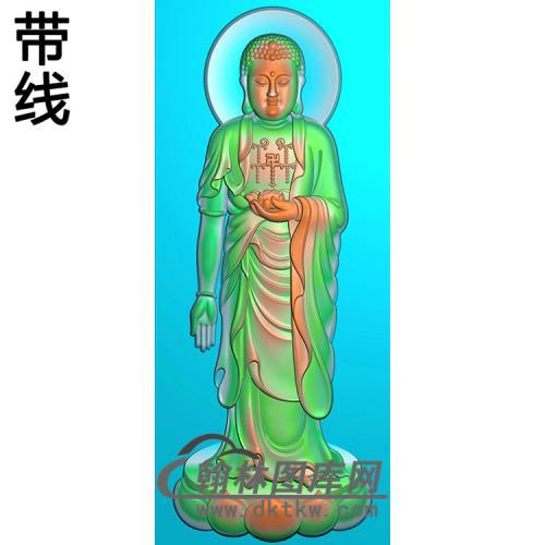 莲花座站姿佛像精雕图(ZFX-049)