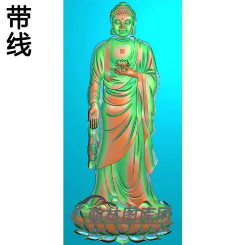 莲花座站姿佛像精雕图(ZFX-054)