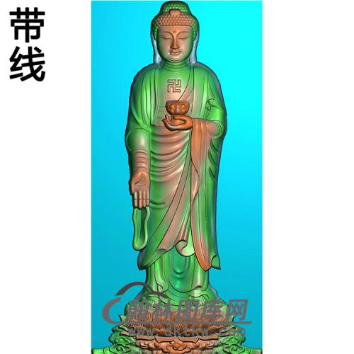 莲花座站姿佛像精雕图(ZFX-055)