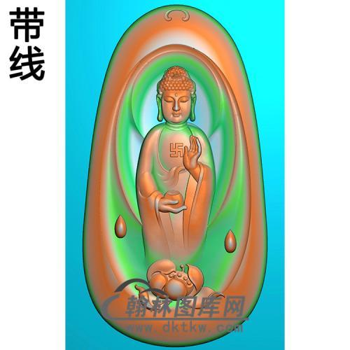 莲花座站姿佛像精雕图(ZFX-057)