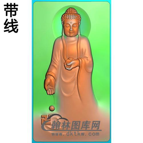 站姿佛像精雕图(ZFX-058)