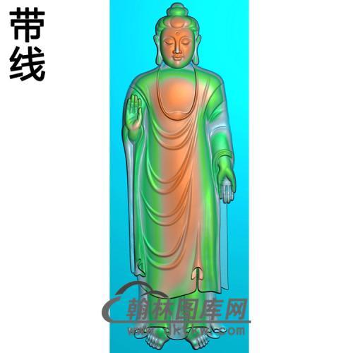 站姿佛像精雕图(ZFX-059)