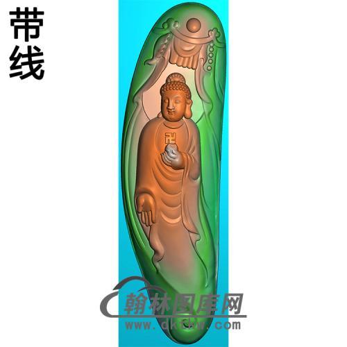 站姿佛像精雕图(ZFX-062)