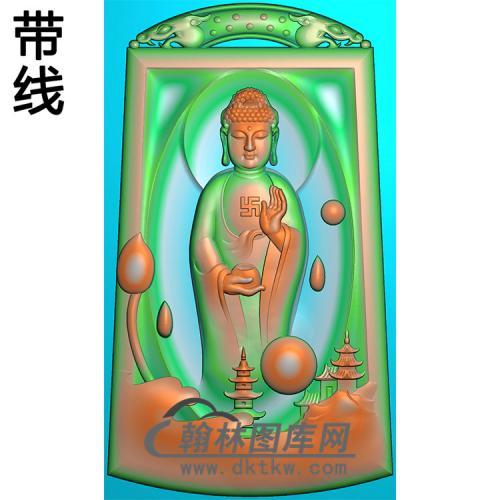 站姿佛像精雕图(ZFX-063)