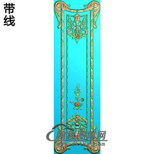 洋花护墙板精雕图(HQB-063)