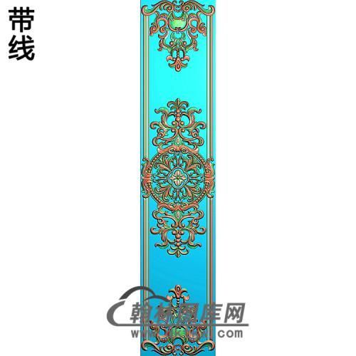 洋花护墙板精雕图(HQB-232)