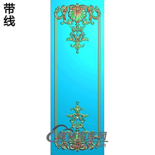 洋花护墙板精雕图(HQB-233)