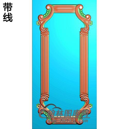 洋花护墙板精雕图(HQB-257)