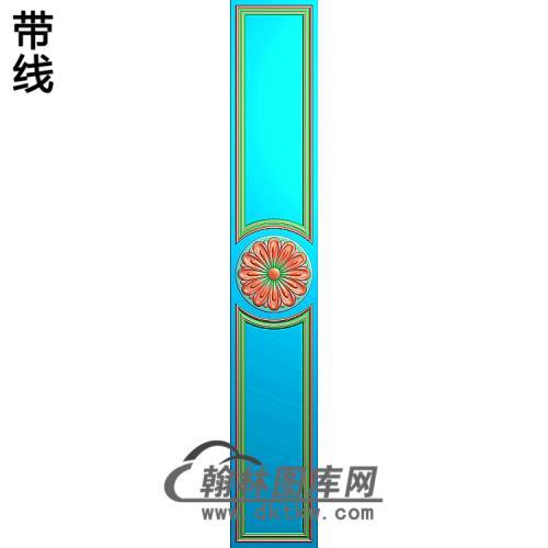 洋花护墙板精雕图(HQB-263)
