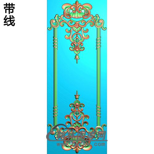 洋花护墙板精雕图(HQB-297)