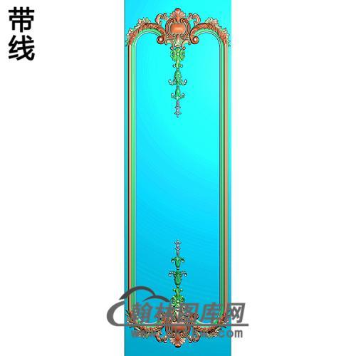 洋花护墙板精雕图(HQB-298)