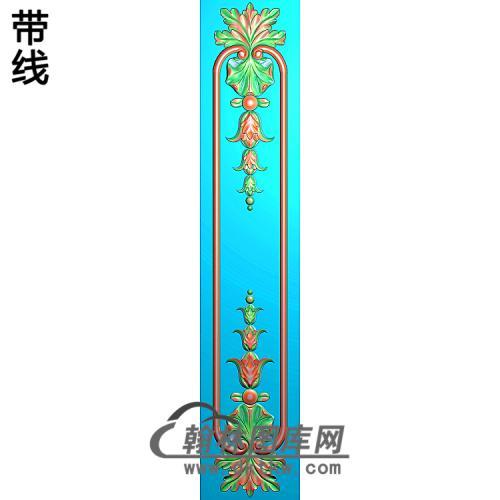 洋花护墙板精雕图(HQB-301)