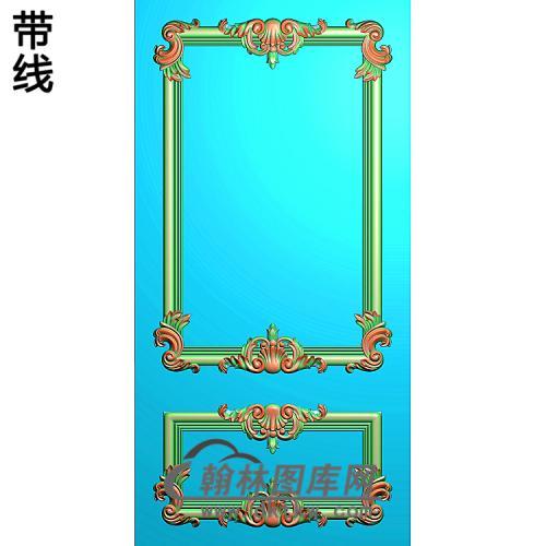 洋花护墙板精雕图(HQB-302)