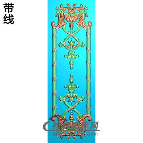 洋花护墙板精雕图(HQB-304)
