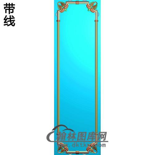 洋花护墙板精雕图(HQB-308)