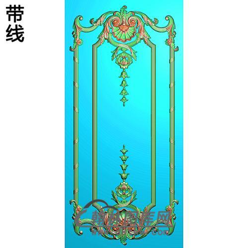 洋花护墙板精雕图(HQB-309)