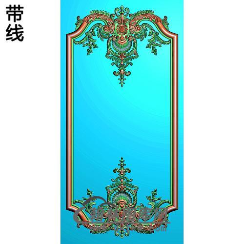 洋花护墙板精雕图(HQB-310)