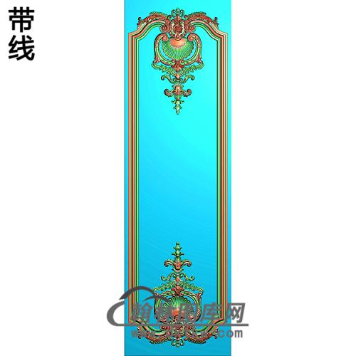 洋花护墙板精雕图(HQB-312)