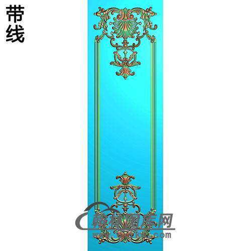 洋花护墙板精雕图(HQB-313)