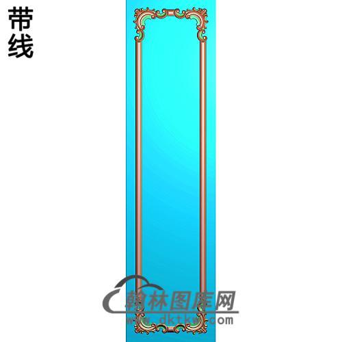 洋花护墙板精雕图(HQB-314)