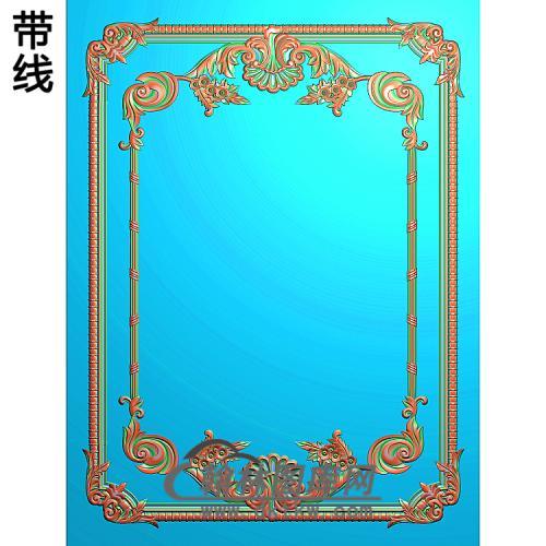 洋花护墙板精雕图(HQB-317)