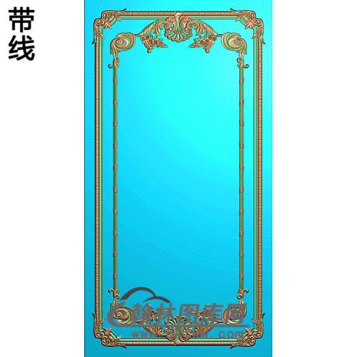 洋花护墙板精雕图(HQB-318)