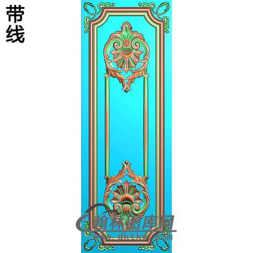 洋花护墙板精雕图(HQB-319)