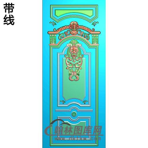 洋花护墙板精雕图(HQB-320)
