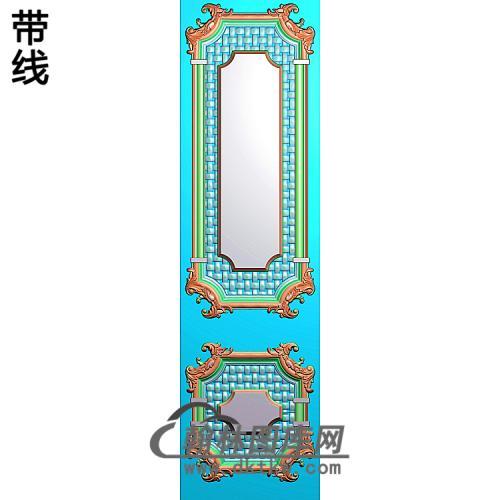 洋花护墙板精雕图(HQB-323)