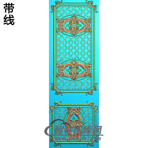 洋花护墙板精雕图(HQB-324)