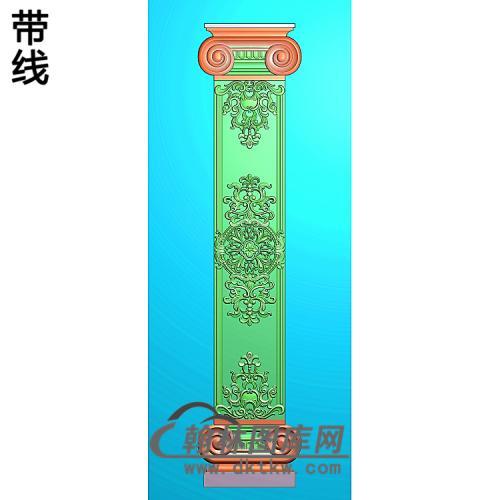 洋花护墙板精雕图(HQB-326)
