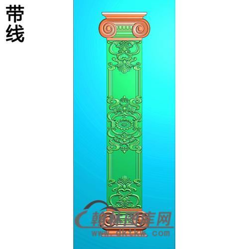 洋花护墙板精雕图(HQB-327)