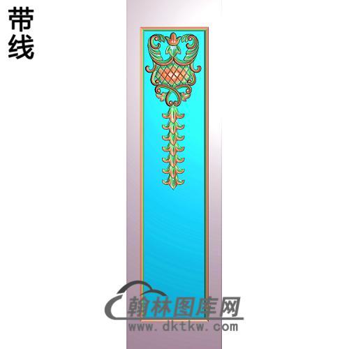 洋花护墙板精雕图(HQB-329)