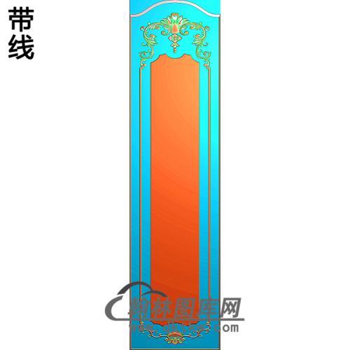 洋花护墙板精雕图(HQB-330)