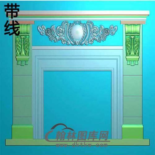 欧式壁炉精雕图(BL-006)